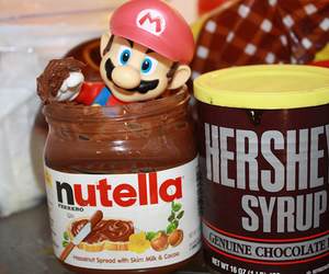 nutella, mario, and chocolate image