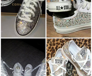 awesome and sparkly converse shoes image