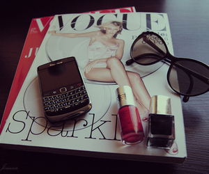 vogue, magazine, and blackberry image
