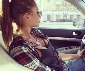 fashion, girl, and car image
