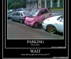 car, funny, and pink image