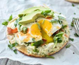 avocado, bacon, and eggs image