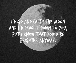 moon, text, and black and white image