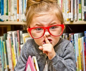 book, kids, and glasses image