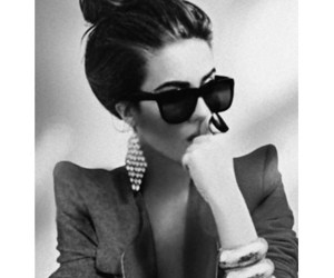 black and white, style, and sunglasses image