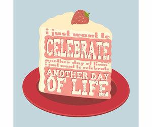 birthday card, cake, and happy birthday image