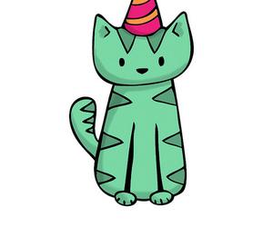 birthday card, cat, and happy birthday image