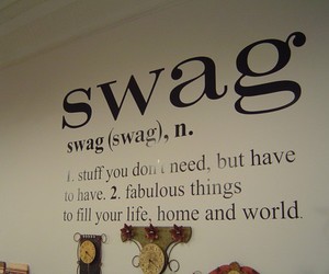 text and swag image