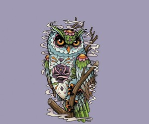 owl, skull, and day of the dead image