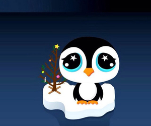 christmas, penguin, and wallpaper image