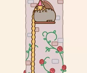cat, pusheen, and rapunzel image