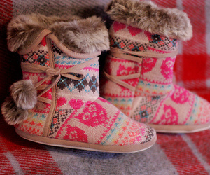 boots, pink, and shoes image