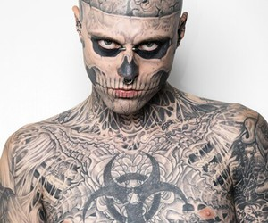 tattoo, zombie boy, and model image