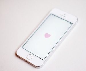 heart, iphone, and white image