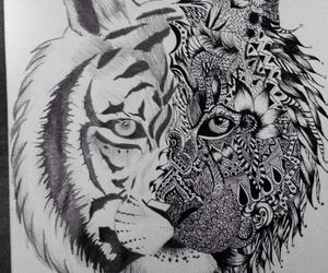 art, black and white, and popart image