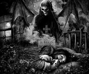 avenged sevenfold, creepy, and dark art image