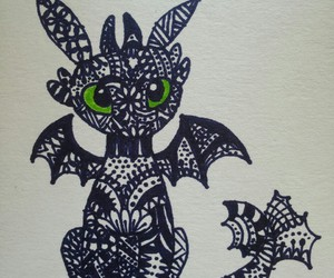 art, toothless, and dragon image