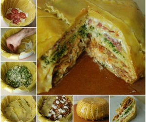 food, diy, and lasagna image