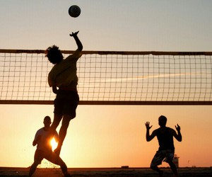 beach, volley, and volleyball image