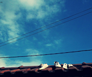 shoes, summer, and sky image