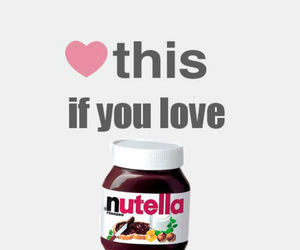 nutella, love, and heart image