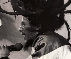 bob marley, dreads, and reggae image
