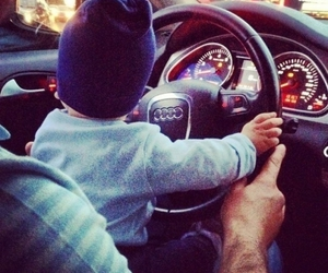 baby, car, and audi image