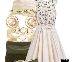 dress, flowers, and spring image