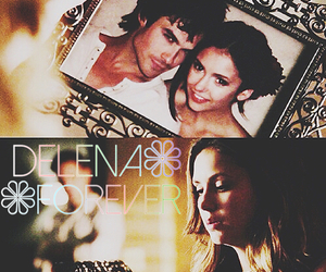 elena gilbert, delena, and the vampire diaries image