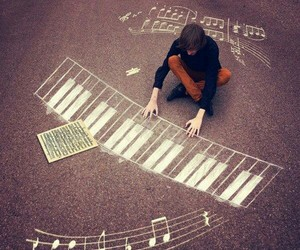 music, piano, and boy image