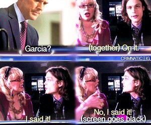 criminal minds, garcia, and matthew gray gubler image