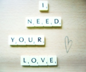 heart, need, and scrabble image