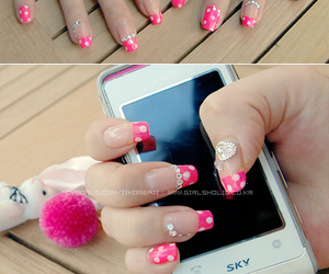 mikki, nails, and pink image