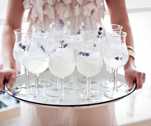 drink, lavender, and party image