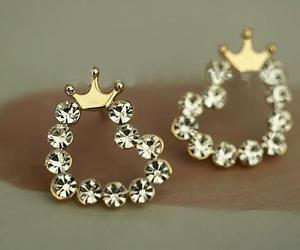 earrings, heart, and accessories image