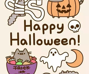 boo, cat, and Halloween image