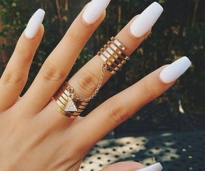 gold, nails, and rings image