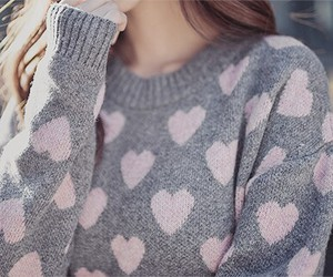 sweater, hearts, and heart image