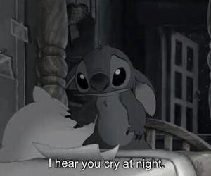 cry, stitch, and sad image