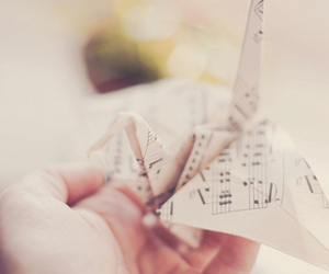 music', lluly, and origami' image
