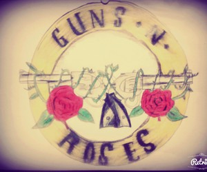 axl rose, drawings, and guns and roses image