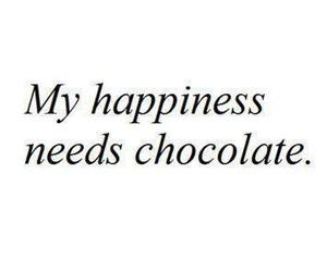 chocolate, happiness, and quote image