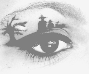 Died, eyes, and girl image