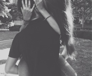 couple, kiss, and smile image