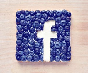 facebook, food, and blueberry image