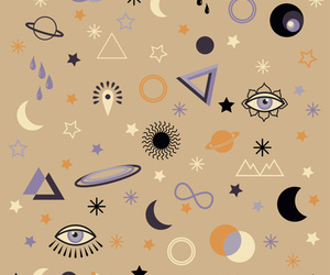 wallpaper, eye, and triangle image