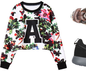 fashion, flower print, and nike image