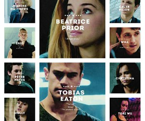 caleb, theo james, and divergente image