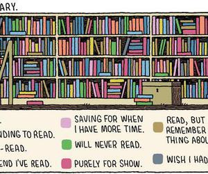 books, library, and reading image