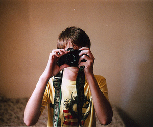 boy, camera, and fashion image
